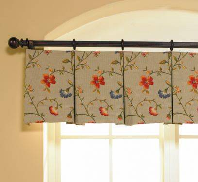 This Scalloped Valance With Bells Jabots Enhances The Window Nicely