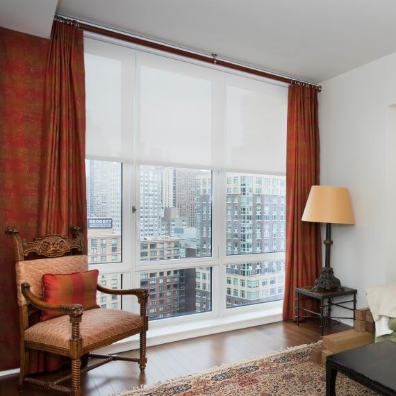 Pinch pleated drapes in nyc