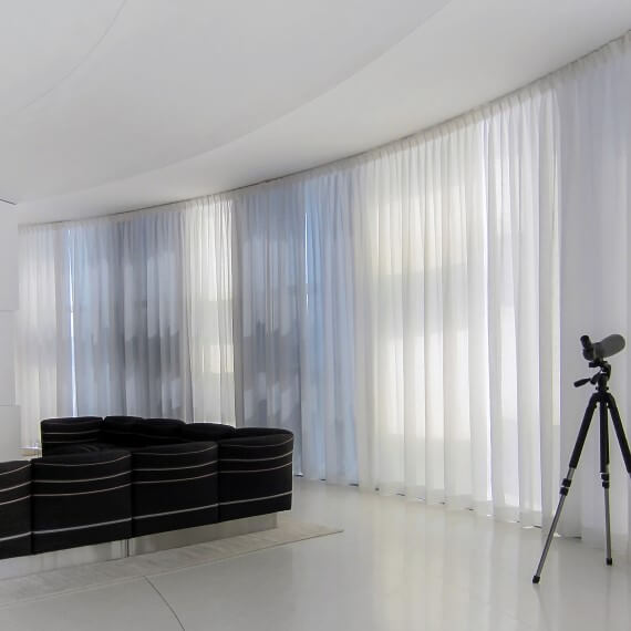 motorized Pinch pleated drapes
