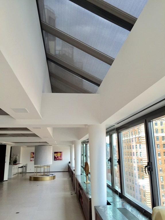 Motorized Skylight Solar Shades Operated With Telis