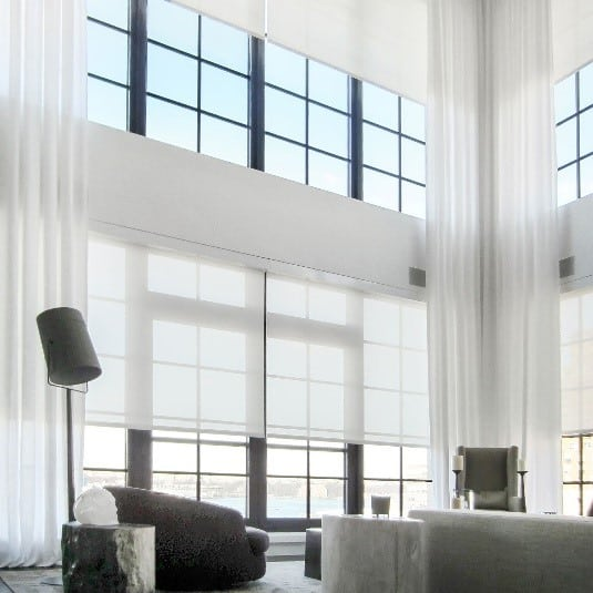 best window treatments country cottage solar sheers and ripple fold side panels the best window treatments for luxury highrise developments in nyc