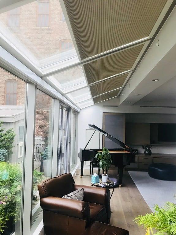Skylight window treatments