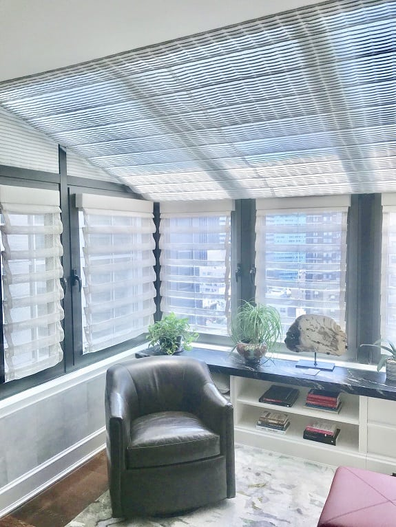 Skylight motorized shades
