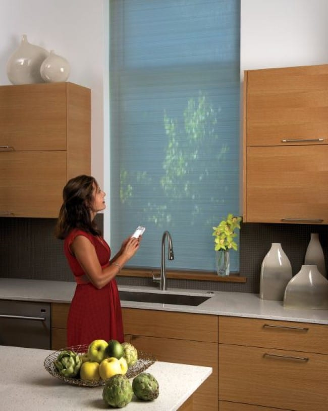 Motorized Shades for kitchen