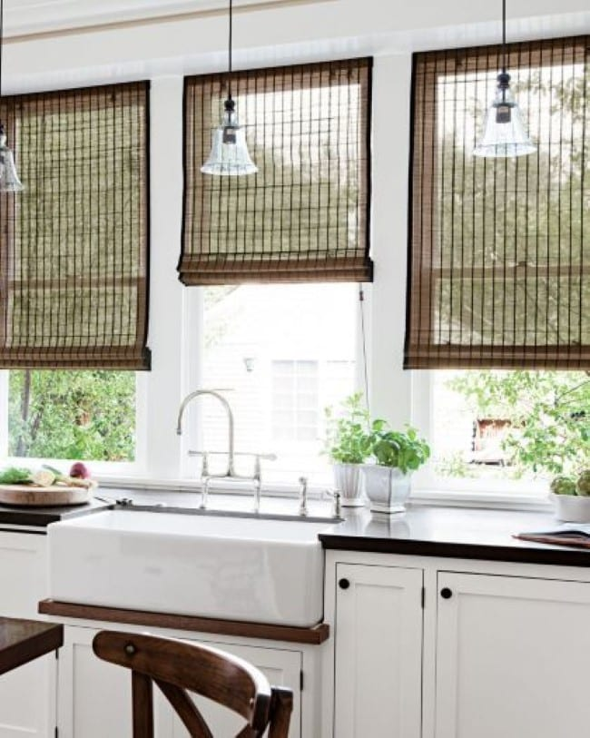 Woven Shades for kitchen
