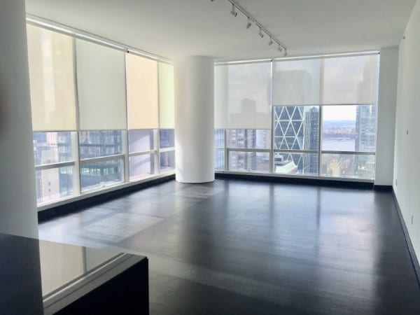 One57- Somfy Motorized Shades   offering privacy and light