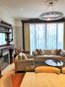 Living Room Ripple Fold Drapes