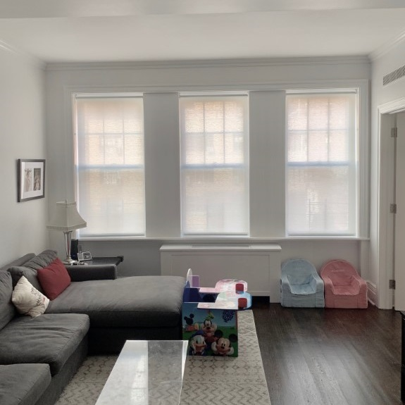 310 West End Avenue window Shades with Balmoral Fabric