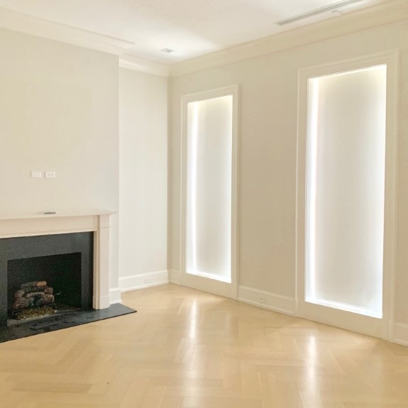motorized shades examples - gallery