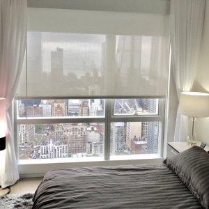 Motorized ripple fold drapes and shades Manhattan
