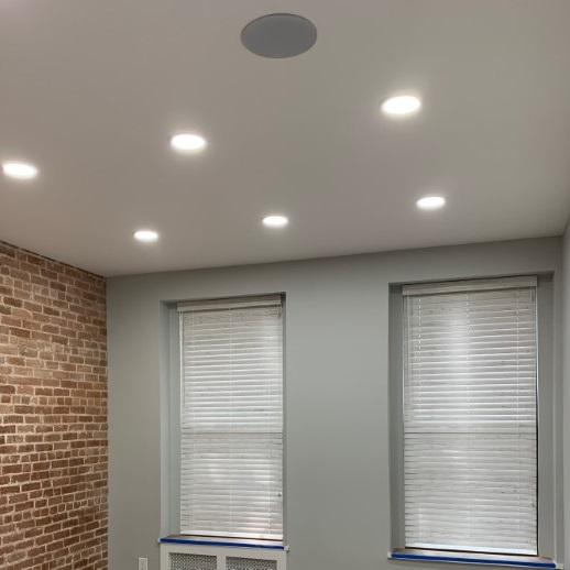 New York Office wood blinds