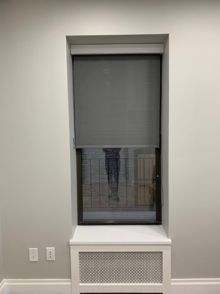 motorized window shades for office