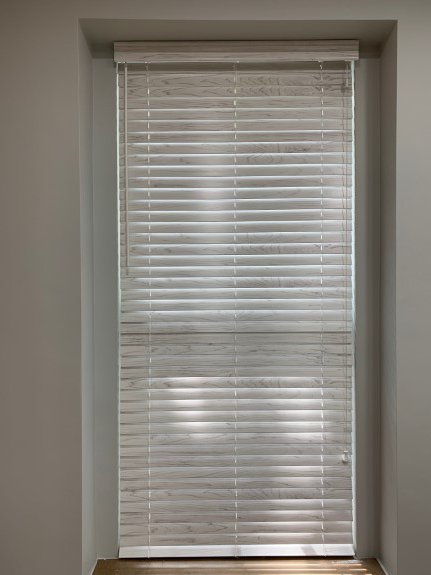 wood blinds for office space