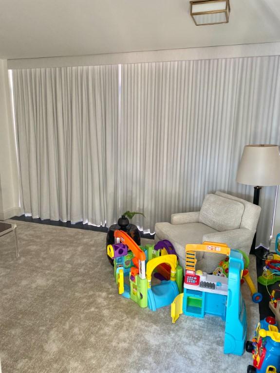 Ripple fold draperies play room