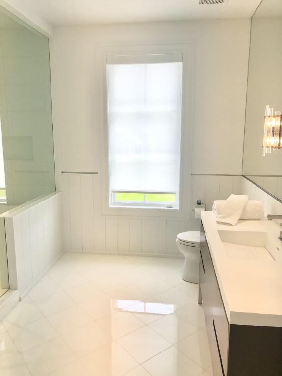 Bathroom blackout window shades example