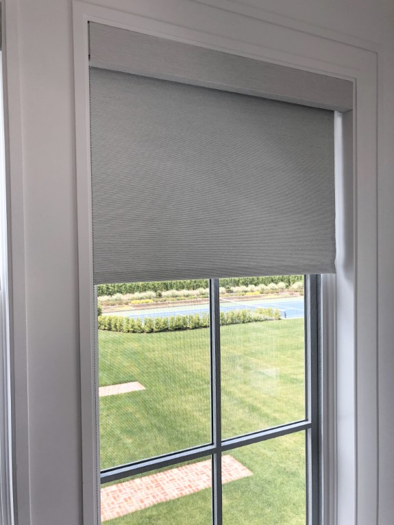 Roller Shades with Fabric Wrapped Fascia